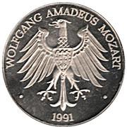 Jeton - Wolfgang Amadeus Mozart – avers