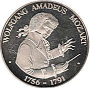 Jeton - Wolfgang Amadeus Mozart – revers