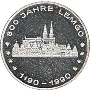 Jeton - 800 Jahre Lemgo, 500 Jahre Post – avers