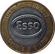 Jeton de lavage automobile - Esso (Castellamonte, Turin) – avers