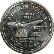 Aviation Dollar - Gander (Hudson Bomber) – revers