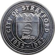 Stratford Dollar - 150 Anniversary (City Hall) – avers