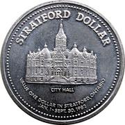 Stratford Dollar - 150 Anniversary (City Hall) – revers