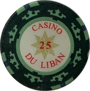 25 Livres - Casino Du Liban (Poker Chip) – avers