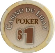 1 Dollar - Casino Du Liban (Poker Chip) – revers