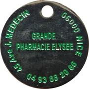 Jeton de chariot - Grande Pharmacie Elysee (Nice) – revers