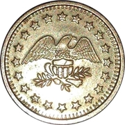 Token - No Cash Value (Eagle looking right; 22.5 mm; Brass) – avers