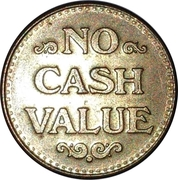 Token - No Cash Value (Eagle looking right; 22.5 mm; Brass) – revers