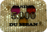 5000 Livres - Casino Du Liban – avers