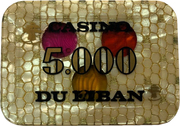 5000 Livres - Casino Du Liban – revers