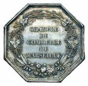 Chambre de commerce de Marseille – revers