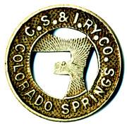 1 Full Fare - Colorado Springs & Interurban Railway Co. (Colorado Springs, Colorado) – avers