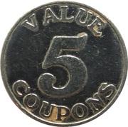 5 Coupons - Jillian's – revers