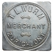 1 Dollar - T.L. Wurm (Zurich, Ontario) – avers
