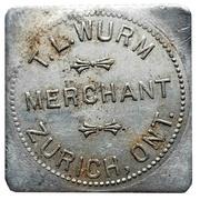 50 Cents - T.L. Wurm (Zurich, Ontario) – avers