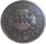 ½ Sovereign - Stockton Co-operative Society – avers