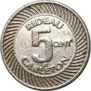 5 Cents - Rideau Carlton raceway (Gloucester, Ontario) – avers