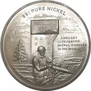 Medal - Thompson Nickel Mine / Sir John A. Macdonald – avers
