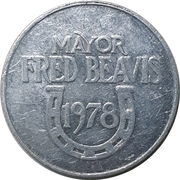 Token - Mayor Fred Beavis – avers
