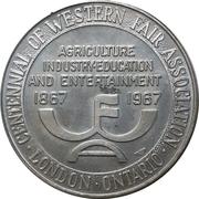 Medallion - Western Fair Centennial (London, ON) – avers
