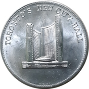 Medal - Toronto's New City Hall – avers
