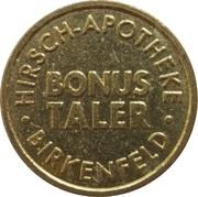 Bonus Taler - Hirsch Apotheke (Birkenfeld) – revers