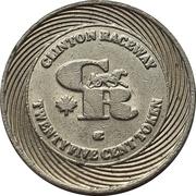25 Cent Token - Clinton Raceway (Clinton, Ontario) – avers
