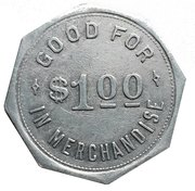 1 Dollar - Tieman & Edighoffer (Dashwood, Ontario) – revers