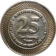 25 Cent Gaming Token - Fort Erie Racetrack – revers