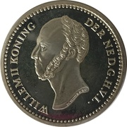 Replica - 5 Cents Willem II (1848) – avers