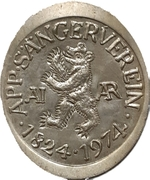 Souvenir token - Appenzell Singing Club – avers