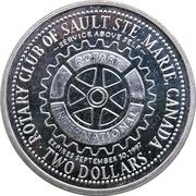 2 Dollars - Rotary Club of Sault Ste. Marie (Ontario) – revers