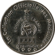 Fédération Française de Football - Continent Equipe de France - Youri Djorkaeff -  revers