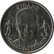 Fédération Française de Football - Continent Équipe de France - Zinédine Zidane -  avers