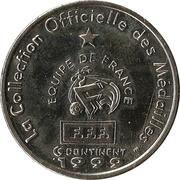 Fédération Française de Football - Continent Equipe de France - Marcel Desailly -  revers