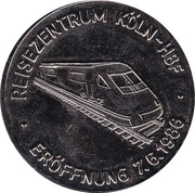 Token - Reisezentrum Köln-Hauptbahnhof / Bundsbahnfährschiff Karl Carstens -  avers