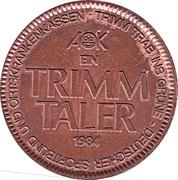 1 Trimm Taler (AOK Bremen) – avers