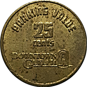 25 Cents Parking Token - Downtown Guelph parking – revers
