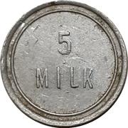 5 Milk - F.E. Teel – revers