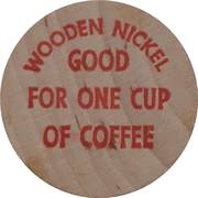 Wooden Nickel - Smitty's One cup of coffee – revers