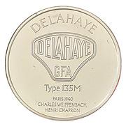 Centenaire de l'Automobile - Delahaye type 135M – revers