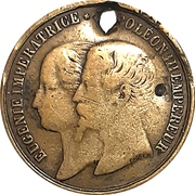 Souvenir token - Victoria & Albert's visit to Cherbourg – avers