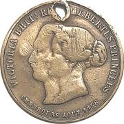Souvenir token - Victoria & Albert's visit to Cherbourg – revers