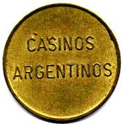 Game Token - Casinos Argentinos – avers
