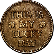 Jeton - This is my Lucky Day – avers