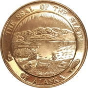 Medal - Seal of the state of Alaska – avers
