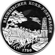Token - Deutsche Post (Korb-Postwagen) – avers