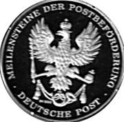 Token - Deutsche Post (Korb-Postwagen) – revers