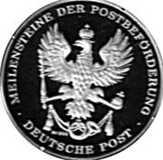 Token - Deutsche Post (Bahnpostwagen) – revers