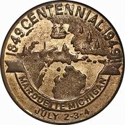 25 cents - Marquette, Michigan – avers